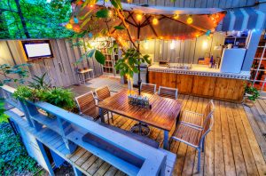enhance your outdoor living space with lighting